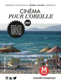 CINEMA POUR L'OREILLE ... Concert gratuit (sur transats) place LULLI ce samedi 22/03 !