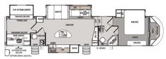 Forest river campers- bunkhouse, king bed and 2 bath 5th wheel floor plans - Google Search