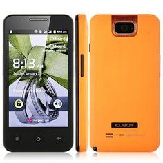 "CUBOT C8 Android Mini smartphone téléphone mobile 4.0 ""écran tactile capacitif Dual SIM, Wi-Fi, TV Orange - 7mall.fr"
