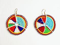 Maasai circlular earrings