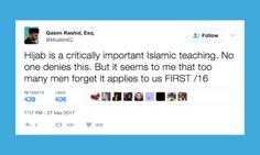 Muslim Activist Reminds Men That The Quran Commands Them To Observe Hijab, Too