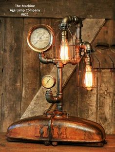 Steampunk Lamp Industrial MM Tractor Light Farm Minneapolis Moline, #621