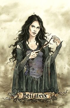 Bellatrix by liga-marta.deviantart.com Not at all sure she was that lovely but terrific illustration.