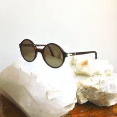 Vintage PERSOL Sunglasses  //  Collectors Item Rare Round AUTHENTIC 60's Persol Glasses  //  1960's Acetate Unisex Men's Woman's Eyeglasses. $1.200,00, via Etsy.