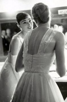 Audrey Hepburn and Grace Kelly in 1956