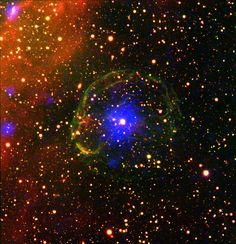 Massive stars end their lives with a bang: exploding as spectacular supernovas, they release huge amounts of mass and energy into space. These explosions sweep up any surrounding material, creating...