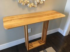 Entryway table made from solid birch. Available for purchase. Unique Furniture, Birch, Entryway Tables, Design, Home Decor, Decoration Home, Room Decor, Home Interior Design