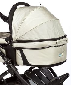 This luxurious little carrier makes strolling around town with Baby superbly simple. With the use of the Quickfix Carrycot adapter, this practical piece can attach to a stroller to convert it to a carrycot seat for your newest little addition. Pop up the sun canopy on extra-bright days. Built-in mosquito netting is an added layer of protection and does double-duty as a transparent screen for additional air flow.