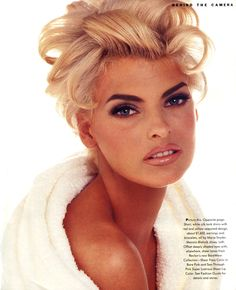 A towel or robe, very glam hair and makeup….Linda Evangelista by Francesco Scavullo Linda Evangelista, Beauty Makeup, Hair Makeup, Hair Beauty, Blonde Makeup, Sultry Makeup, Beauty Style, Eye Makeup, Original Supermodels