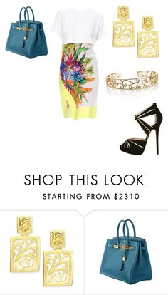 """""""Untitled #24292"""" by edasn12 ❤ liked on Polyvore featuring Just Cavalli, Alex Soldier, Jimmy Choo and Hermès"""