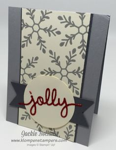 Klompen Stampers (Stampin' Up! Demonstrator Jackie Bolhuis): More HOLLY JOLLY Greetings