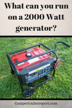 What can you run on a 2000 Watt generator? A generator put simply is a machine that churns out electricity from diesel. Though it doesn't have many different forms,
