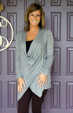 That Time I Kept Everything In My Stitch Fix Box -- Stitch Fix cardigan with button detail