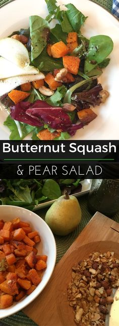 This nutritious Roasted Butternut Squash & Pear Salad is topped with a delicious Maple Balsamic Dressing! | Clearly Organic Nutritionist Corner #organic #recipe #eatclean