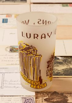 Vintage Luray Caverns Souvenir Glass