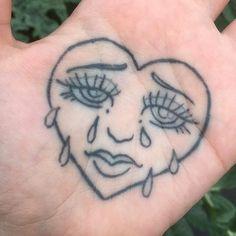 Dainty Tattoos, Dope Tattoos, Pretty Tattoos, Mini Tattoos, Body Art Tattoos, Tatoos, Hand Palm Tattoos, Hand Poked Tattoo, Tatuaje Stick N Poke