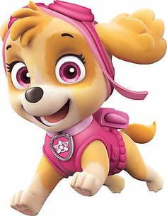 "6,5 x 6,5 cm Applicatio Iron on patches pink PAW PATROL /""BEST PUPS EVER/"""