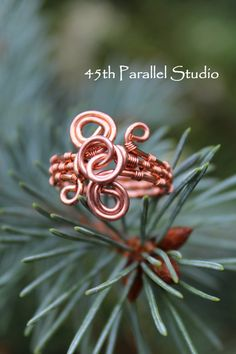Copper Wire Wrapped Ring Wire Ring Copper by 45thParallelStudio