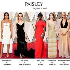 The most beautiful dresses from 89th Academy Awards Oscar 2017 🌟 #oscars #PaisleyTrendReport #oscar #oscars2017 #dresses #redcarpetfashion #redcarpet #fashiondesigner #fashion #celebrityfashion #celebrities #celebstyle #academyawards #actress #star #beauty #hautecouture #gown #love #luxury #hair #makeup #ootd #givenchy  #calvinklein #oscardelarenta #armani  #louisvuitton  #dress #instafashion