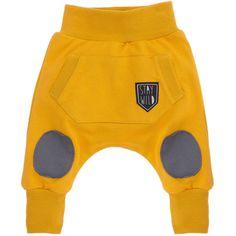 Pinokio Chlapecké tepláky s kapsou - žluté