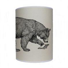 Esquissé l'ombre de l'ours / lampe abat-jour / par KitschAttic