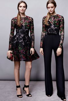 Elie Saab Pre-Fall 2015 Fashion Show - Agne Konciute, Esther Heesch
