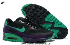 Black Green Purple Nike Air Max 90 Hyperfuse Mens Trainers Premium Free Running Shoes