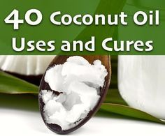 40 Coconut Oil Uses and Cures. I have used coconut oil as a moisturizer for a year now and it has really made my skin smoother and less breakouts! Love it!
