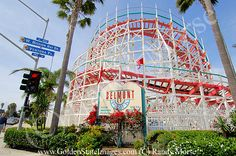 Mission Beach Belmont Park Roller Coaster   Historic Giant Dipper Roller Coaster. Opened on July 4 1924. Current pic