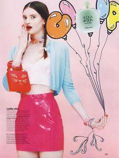 Vinyl Mini Skirt in Gioia Magazine, Italy. #AmericanApparel