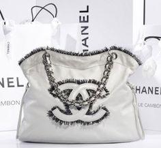 Chanel Bag 2010 White Chanel Bag, New Chanel Bags, Chanel Purse, Chanel Handbags, Gucci Purses, Coco Chanel, Discount Designer Handbags, Handbags Online, Purses Online