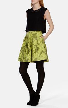 Stripe brocade dress | Luxury Women's dresses | Karen Millen
