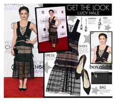 """Get the look- Lucy Hale"" by stylect ❤ liked on Polyvore featuring Brian Atwood, Lee Savage, women's clothing, women, female, woman, misses and juniors"