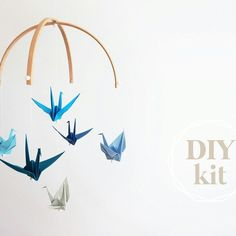 New colour** Origami crane Baby Mobile Kit Diy Origami, Origami Paper, Make A Mobile, Kit, Unique Baby, First They Came, Deep Sea, Diy Baby, Decoration