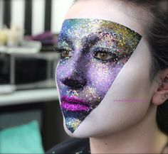 'Some Girls Are Just Born With Glitter In Their Veins' I had so much fun teaching Glitter make-up skills & techniques at The School of Make-up based in Manchester, the school I will be teaching at...