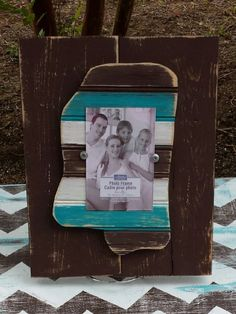 Distressed Mississippi Picture Frame. by DurioDesigns on Etsy