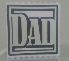 Father's day card. Scan n cut eirk in progress