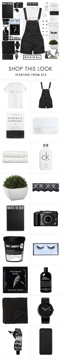 """""""dark angels."""" by watercolor-sunsets ❤ liked on Polyvore featuring Diesel, Boohoo, Herbivore, NARS Cosmetics, Linum Home Textiles, Calvin Klein, Crate and Barrel, Primitives By Kathy, Olympus and Huda Beauty"""