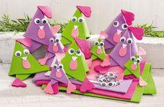 Bird Crafts, Easter Crafts, Diy And Crafts, Crafts For Kids, Arts And Crafts, Ostern Cartoon, Felt Bookmark, Chicken Crafts, Felt Bunny