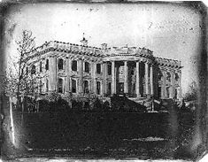 "Earliest photo of the White House (1846) The White House main building was burned by the British in 1814 during the War of 1812. Afterward, when the building was being restored, the smoke-stained gray stone walls were painted white. The name ""White House,"" however, was not used officially until President Theodore Roosevelt had it engraved on his stationery in 1901. Prior to that, the building was known variously as the ""President's Palace,"" the ""President's House,"" and the ""Executive…"