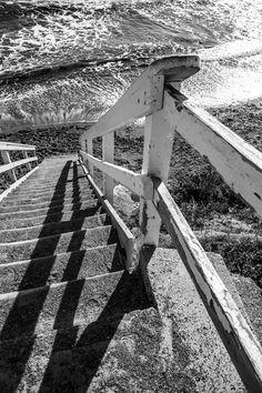 Beach Access, black and white
