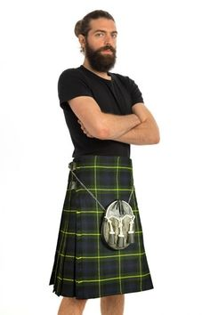Enjoy the look of your favorite tartan everywhere you go with the Gordon tartan kilt. This Gordon Tartan features the iconic and well-loved Gordon tartan for you to sport to any casual or formal event alike. #GordonTartanKilt #GordonTartan #KiltsForSale #traditionalkiltsforsale