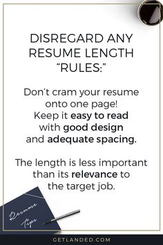 Resume Tips Disregard any resume length rules! Resume Advice, Resume Writing Tips, Career Advice, Homework Quotes, First Resume, Resume Profile, Cv Tips, How To Make Resume, Work On Writing