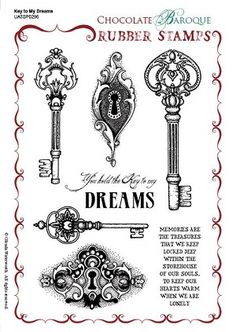 Key to My Dreams Unmounted Rubber Stamp Sheet - A5