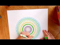 """Why do a """"draw my life"""" when you can draw a mandala? It's always a good time to draw a mandala.  ▶ All My Mandalas - YouTube Video"""