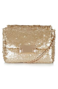 Love this gold sequin crossbody bag!