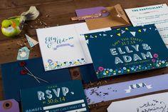 summer fete wedding invitation by the charming press | notonthehighstreet.com