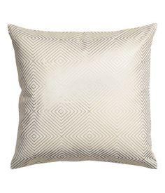 Kuviollinen tyynynpäällinen   Valkoinen/Kulta   Home   H&M FI
