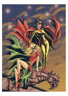 BATWOMAN & BATGIRL Comic Art