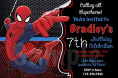 Nice Spiderman Party Invitation Template Free 31 For Your PSD Files By Spiderman Party Invitation Template Free